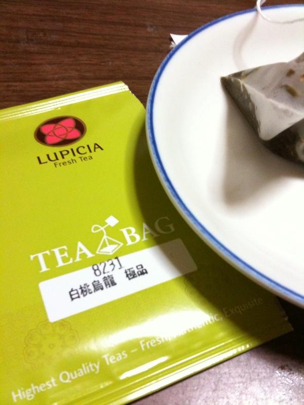 お茶:LUPICIA白桃烏龍